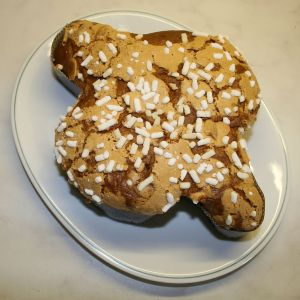 Italian bread with almonds and sugar,Colomba-Pasquale